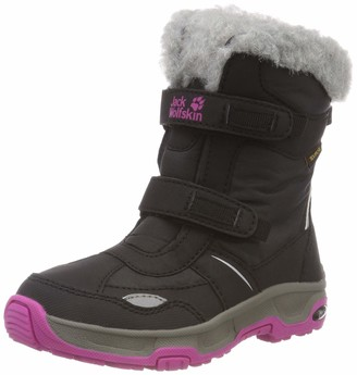 Jack Wolfskin Girls Flake Texapore Waterproof-4F Insulated Snow Boot with Faux Fur