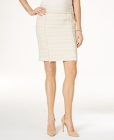 Kasper Petite Fringe Tweed Pencil Skirt