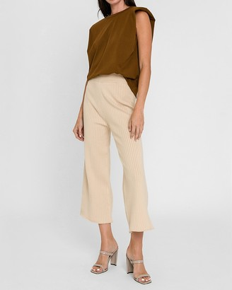 Express English Factory High Waisted Cropped Sweater Pants