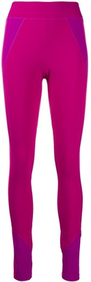 Isabel Marant Contrast-Panel High-Rise Leggings