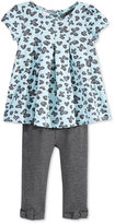 First Impressions Baby Girls' 2-Pc. Jacquard Tunic & Bow Leggings Set, Only at Macy's