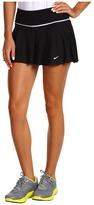 Nike Flounce Knit Tennis Skirt (Black/White/White) - Apparel