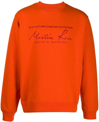 Martine Rose Graphic-Print Crew Neck Sweatshirt