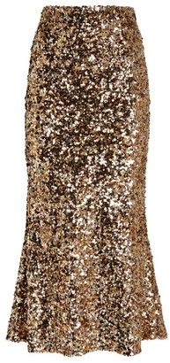 Shona Joy Faye Sequin Midi Skirt