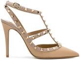 Valentino Garavani Valentino Rockstud Ankle Strap pumps - women - Calf Leather/Leather - 35