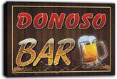 AdvPro Canvas scw3-030691 DONOSO Name Home Bar Pub Beer Mugs Stretched Canvas Print Sign