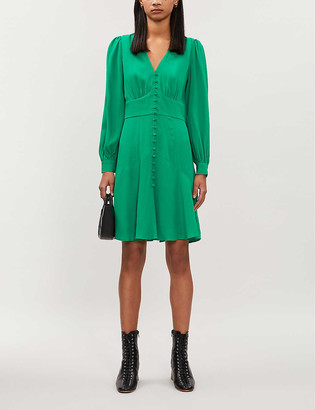 Whistles Button-through crepe dress