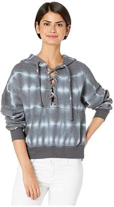 FP Movement Tie-Dye Believer Sweat (Black) Women's Sweatshirt