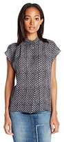 Nicole Miller Women's Textured Embossed Poly Ggt Shirt