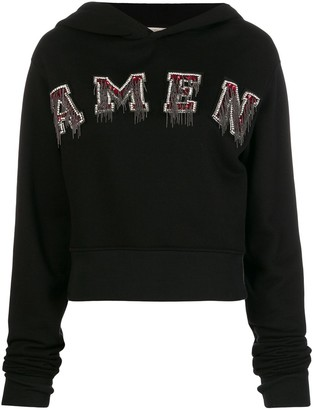 Amen Logo Patch Hoodie
