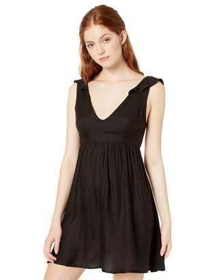 Volcom Junior's Women's Day Ruffled Sleeve Mini Dress