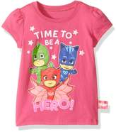 "PJ Masks Little Girls' Toddler ""Time to Be a Hero!"" T-Shirt"