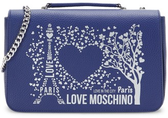 Love Moschino Love In The City Faux Leather Crossbody Bag