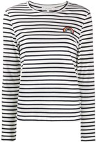 Chinti and Parker patch-embellished Breton striped T-shirt