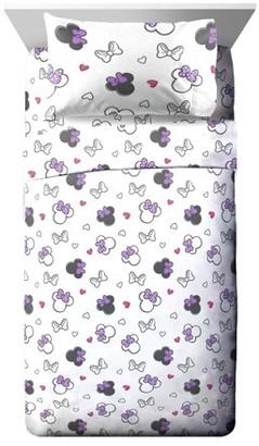Minnie Mouse Purple Love Full Sheet Set