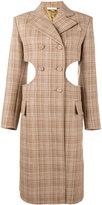 Celine cutout check coat