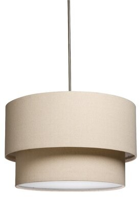 Latitude Run Payzley 3-Light Unique / Statement Drum Pendant Shade Color: Oatmeal
