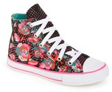 Converse Toddler Girl's Chuck Taylor All Star 'Neon Floral' High Top Sneaker