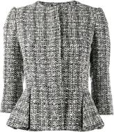 Alexander McQueen bouclé peplum jacket - women - Cotton/Polyamide/Cupro/Virgin Wool - 36