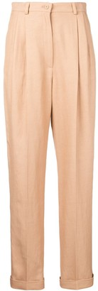 Alberta Ferretti Tapered High-Rise Trousers