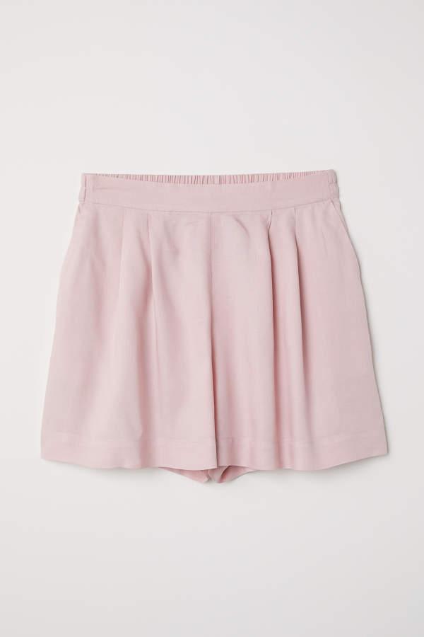 H&M Wide-cut Shorts - Powder pink - Women