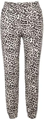 Alice + Olivia Shavon leopard-print cotton sweatpants