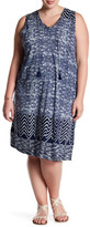 Lucky Brand Sleeveless Tassel Tie Dress (Plus Size)
