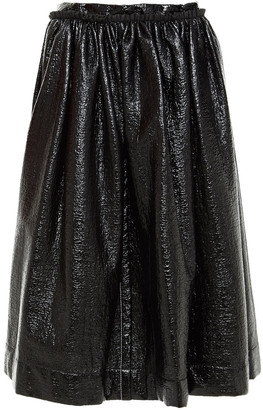 Marni Gathered Coated Boucle-tweed Skirt