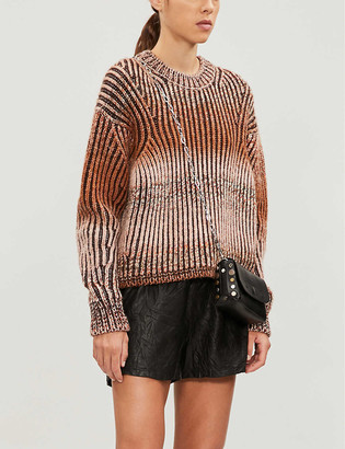 Zadig & Voltaire Textured leather shorts