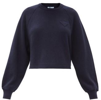 Prada Cropped Raglan-sleeve Cashmere Sweater - Navy