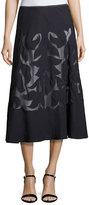 Nic+Zoe Secret Garden Skirt, Midnight