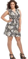 Spense Plus Size Dress, Sleeveless Floral