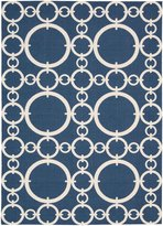 Nourison Waverly: Sun N' Shade SND02 Navy Rectangle Rug 7.9 x 10.10'