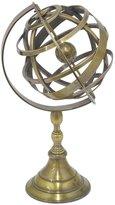 Three Hands Brass Globe, Gold - Gold