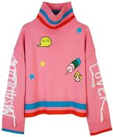 Mira Mikati Marshmallow Lover Pink Turtleneck Knit