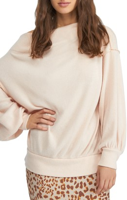 Free People Main Squeeze Off-the-Shoulder Knit Sweater