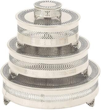 Uma Enterprises Set Of 4 Metal Cake Plates