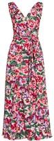 Dolce & Gabbana Charmeuse Floral-Print Wrap Dress