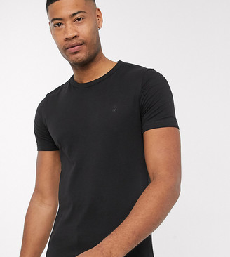 French Connection Essentials Tall t-shirt in black