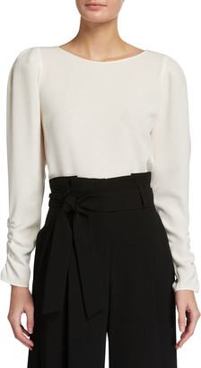 Lafayette 148 New York Romilly Finesse Crepe Blouse