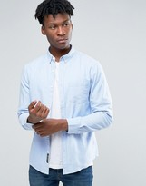 Pull&bear Oxford Shirt In Light Blue In Regular Fit