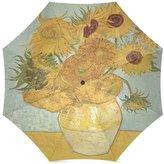 Van Gogh's Painting Umbrella Birthday Gifts Artworks Sunflowers Painting By Vincent Van Gogh 100% Fabric And Aluminium Foldable Umbrella