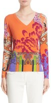 Etro Print Stretch Silk Sweater