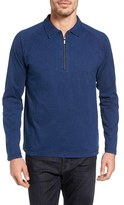 Bugatchi Men's Long Sleeve Zip Polo