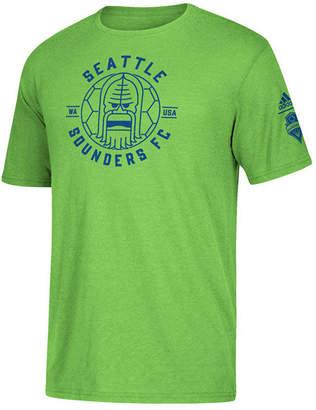 adidas Men Seattle Sounders Fc Linear Icon Tri-Blend T-Shirt
