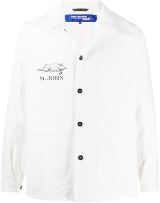 Junya Watanabe Logo-Print Shirt Jacket