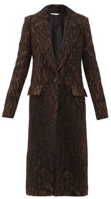Marina Moscone Single-breasted Leopard-print Coat - Multi