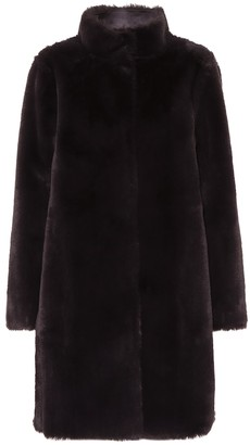 Velvet Mina reversible faux-fur coat