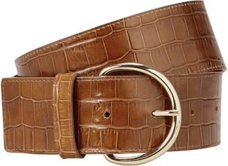 MAISON BOINET Croc Embossed Waist Belt