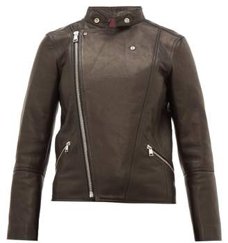 A.P.C. Florence Leather Biker Jacket - Womens - Black